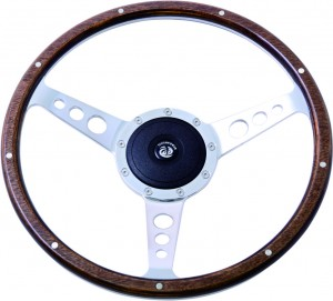 "14"" Classic wood steering wheel 350mm for Alfa Romeo MG"