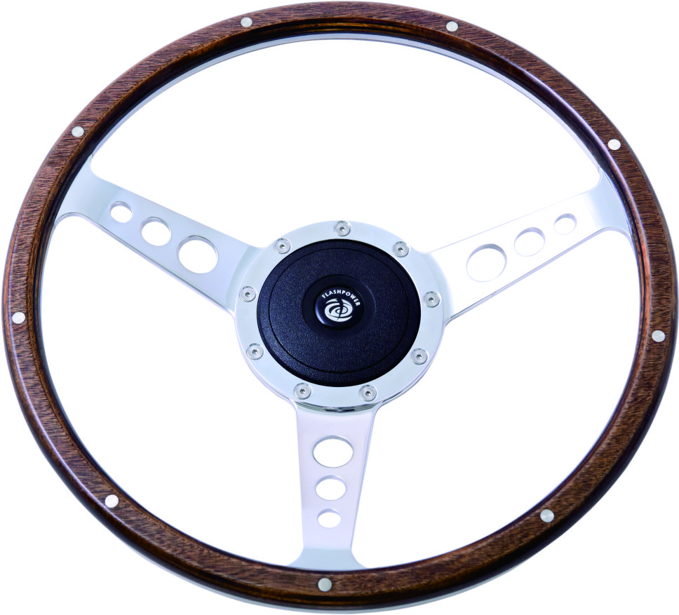 "14"" Classic wood steering wheel 350mm Featured Image"