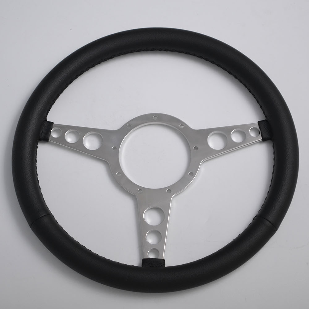 "15"" Leather Classic Steering Wheel Flat Dish 380mm Featured Image"