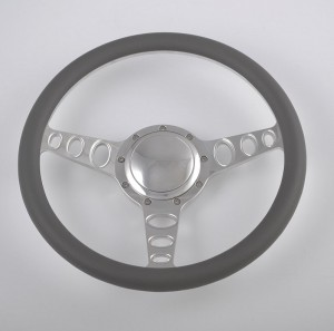 350mm Aluminum Billet Chrome Steering Wheel for Ford Fairlane Galaxie