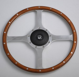 14 inch Classic wood steering wheel for Restoration Vintage Jaguar XK140 XK150 XJ6,XJ12