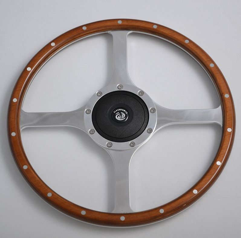 15 inch  Classic Jaguar steering wheel with Wooden Rim for Restoration Vintage Jaguar XK140 XK150 XJ6,XJ12 380mm Featured Image