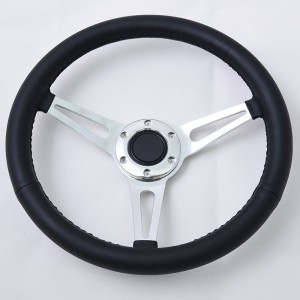 16 inch 6 bolts classic steering wheel with Black leather Grip Momo Pattern 400mm
