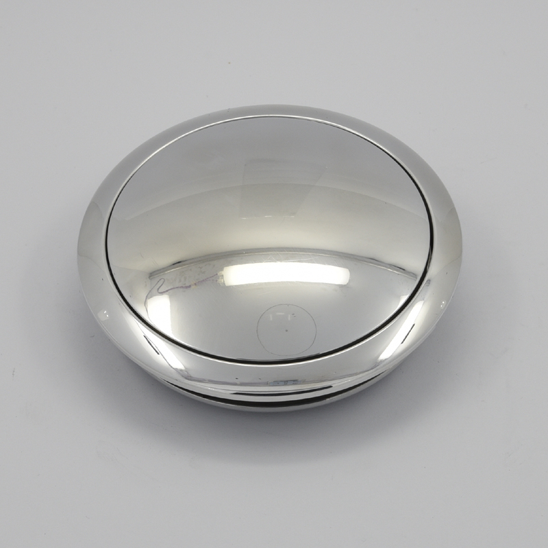 Billet Aluminum Steering Wheel Horn Button Small Plain High Polished Featured Image