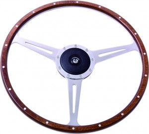 17″ Wood Classic steering wheel 430mm Flat Dish