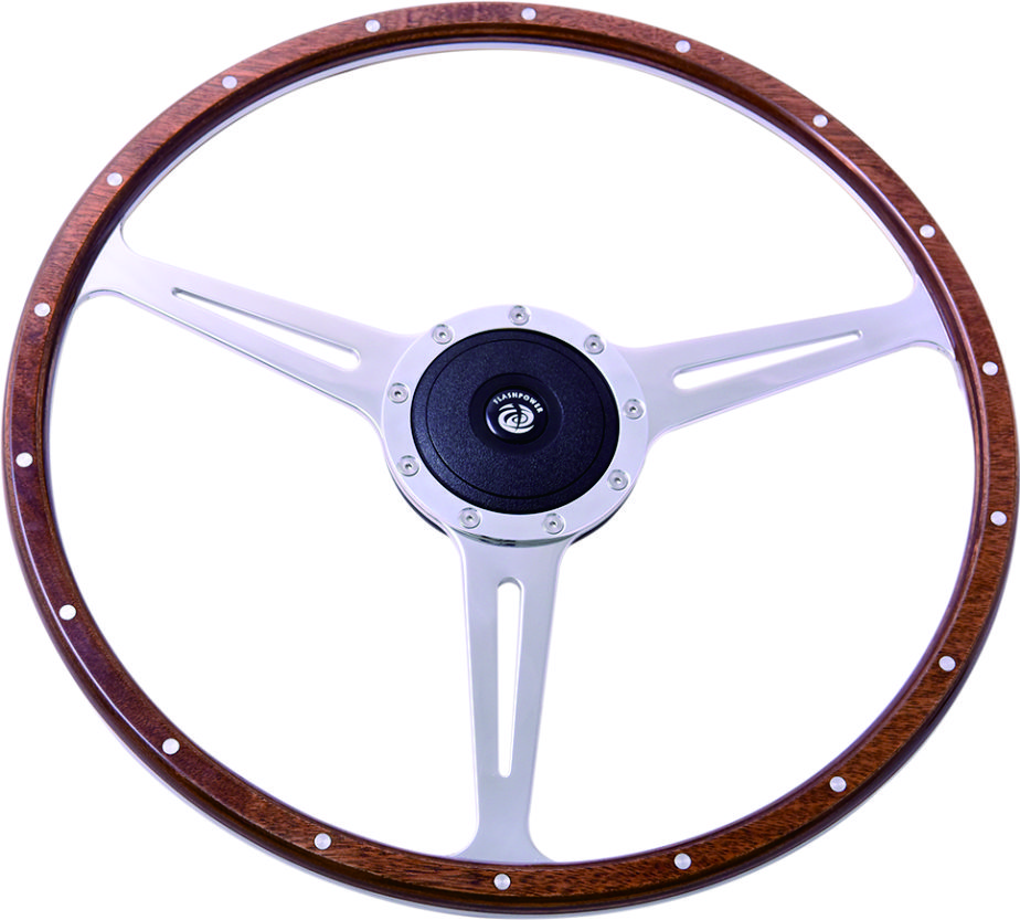 17″ Wood Classic steering wheel 430mm Flat Dish Featured Image