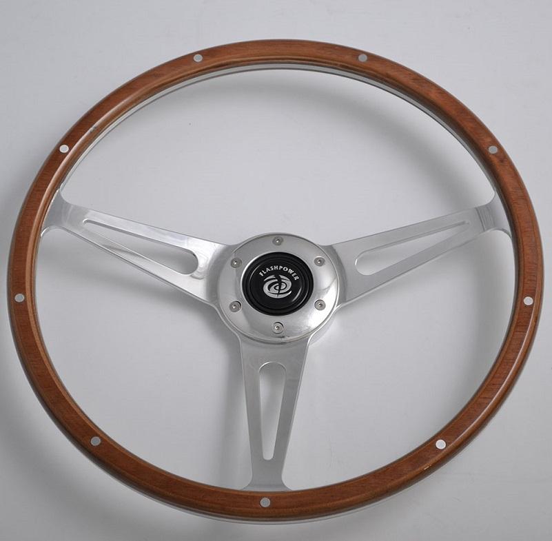 350mm Wood Steering Wheel For European Classic Car Momo 6 Hole