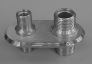 Billet Aluminum Firewall Heater bulkhead Connector Hot Rod