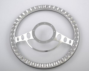 15″ Aluminum Billet Steering Wheel Polished for Muscle American Car