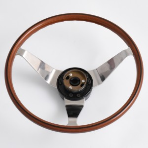 """14"""" Opel GT Classic Steering Wheels Wood Grip with Black line Opel Classic Parts"""