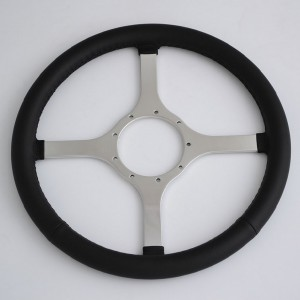 "14"" classic Leather steering wheel for Jaguar,MG,Austin Healey,Mini,Triumph,even Boat"