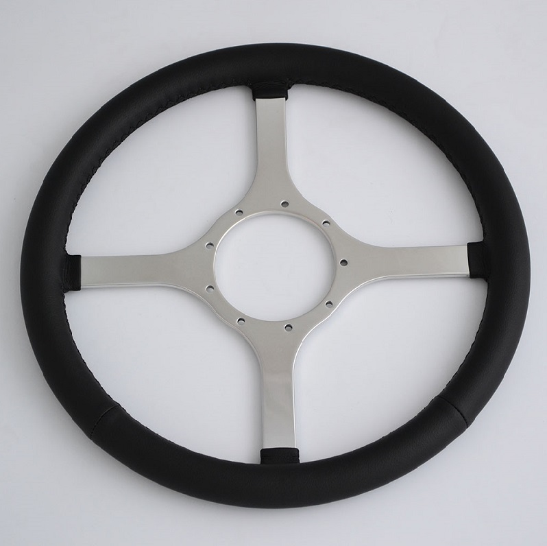 "14"" classic Leather steering wheel for Jaguar,MG,Austin Healey,Mini,Triumph,even Boat Featured Image"