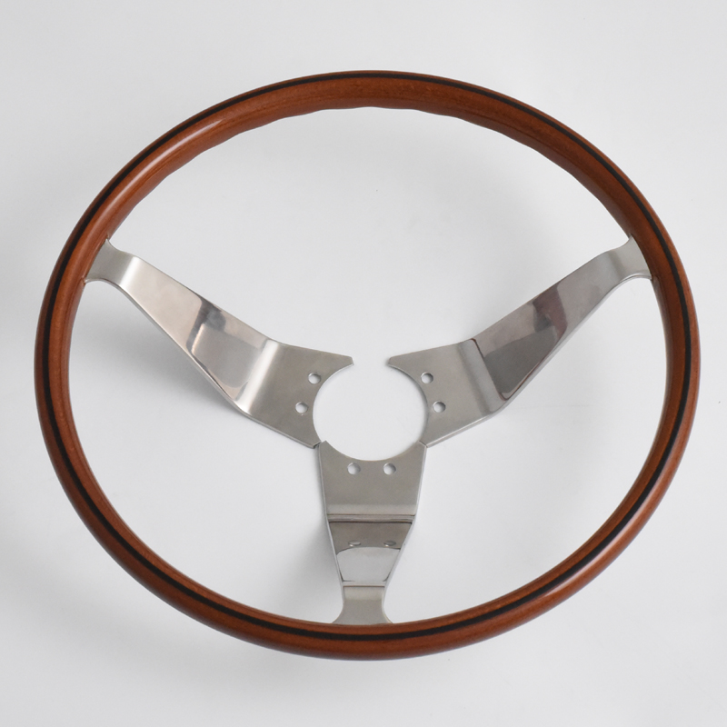 """14"""" Opel GT Classic Steering Wheels Wood Grip with Black line Opel Classic Parts Featured Image"""