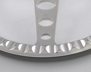 350mm Aluminum Billet Chrome Steering Wheel for Ford Fairlane Galaxie 14 inch