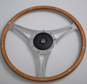 15 inch Wood Classic steering wheel Flat Spoke for Restoration Ford Mustang Shelby AC Cobra