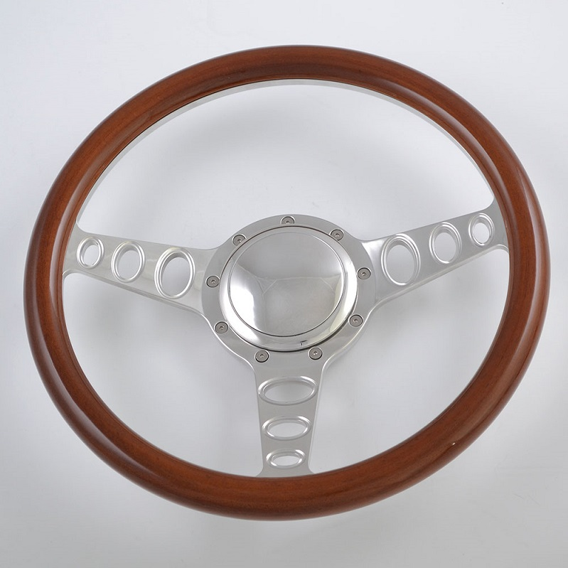 350mm Aluminum Billet Chrome Steering Wheel for Ford Fairlane Galaxie Featured Image