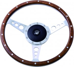 "14"" Classic wood steering wheel 350mm"