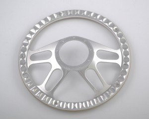 380mm Polished Aluminum Billet Steering Wheel for Ford GM Corvair