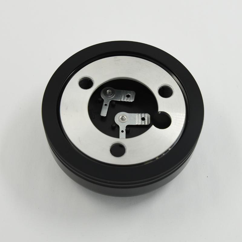 Aluminum Horn Button for 9-bolt Steering Wheels Big Polished