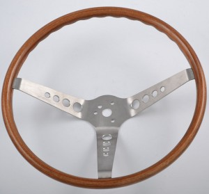 15 inch Walnut Wood Classic Steering Wheel for Mustang Shelby Cobra GT350,GT500