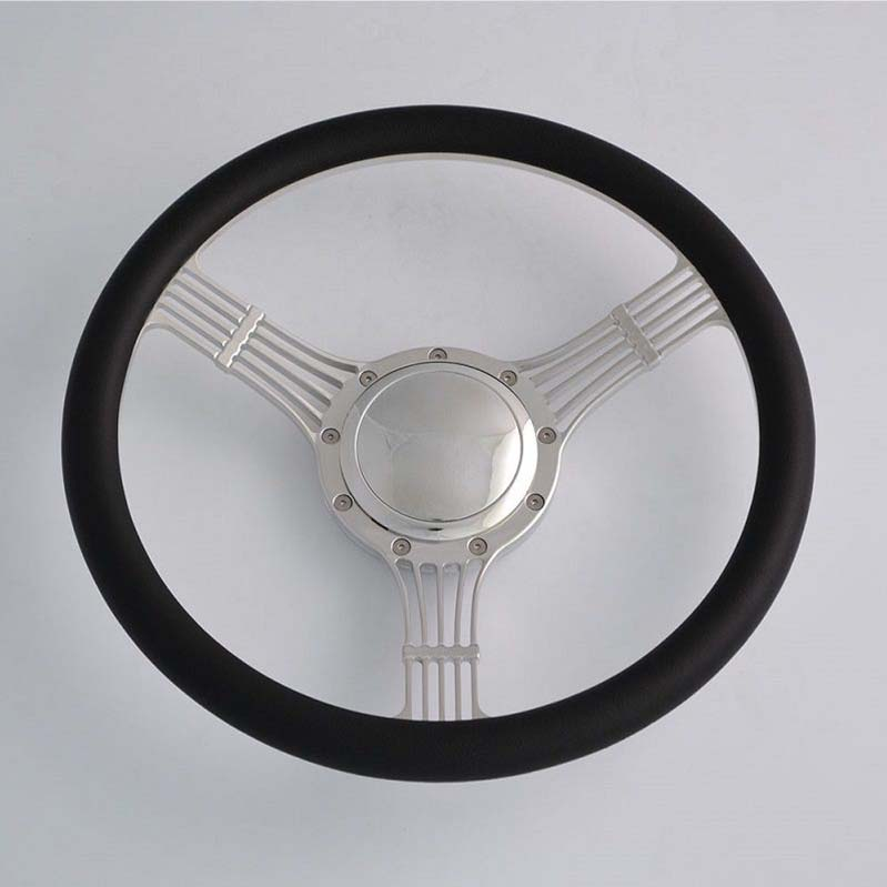 15.5″ billet Polished Steering Wheels Half Wrap for Chevy Ididit Flaming Rive Featured Image