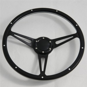 350mm Birch Wood Classic steering wheel with Momo 6 hole Pattern