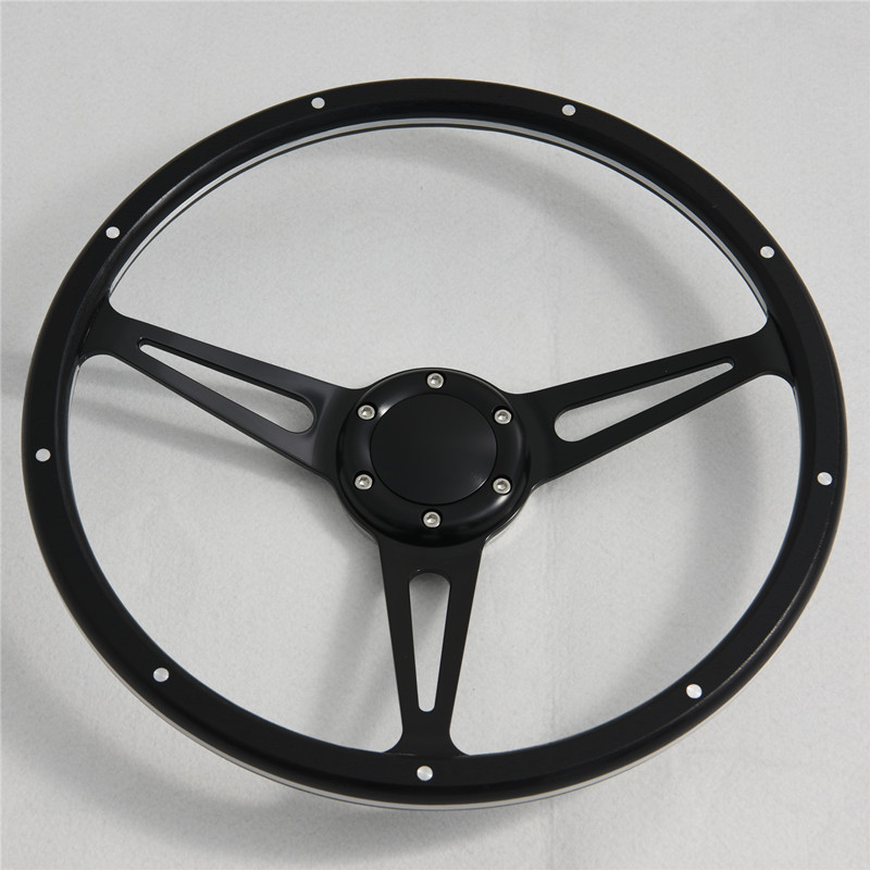 350mm Birch Wood Classic steering wheel with Momo 6 hole Pattern Featured Image