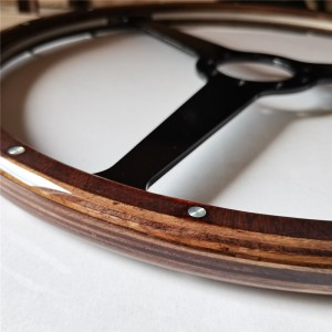 Reproduction Original Steering Wheels with Birch Wood Grip for Aston Martin 380mm