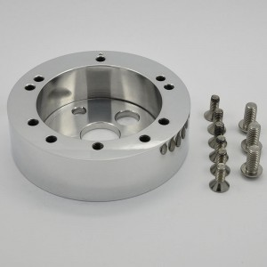CNC Aluminum Black Billet Conversion Spacer for Steering Wheel