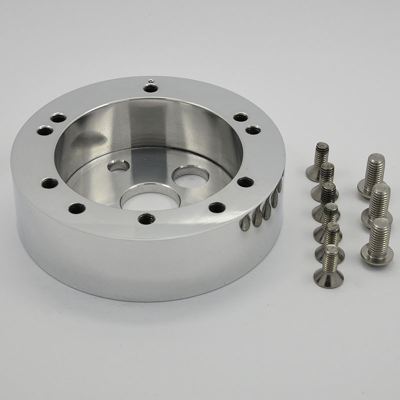 CNC Aluminum Black Billet Conversion Spacer for Steering Wheel Featured Image